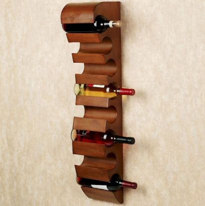 Elegant wine rack design ideas using wood 52