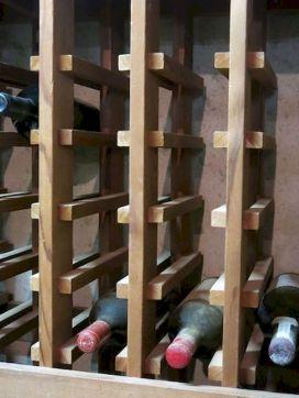 Elegant wine rack design ideas using wood 53