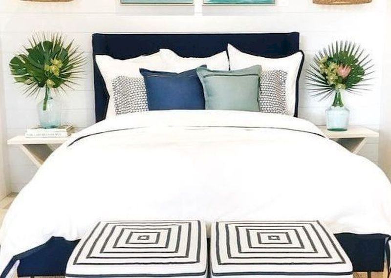 Gorgeous coastal bedroom design ideas to copy right now 44