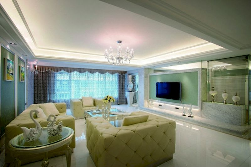 Impressive chinese living room decor ideas 11