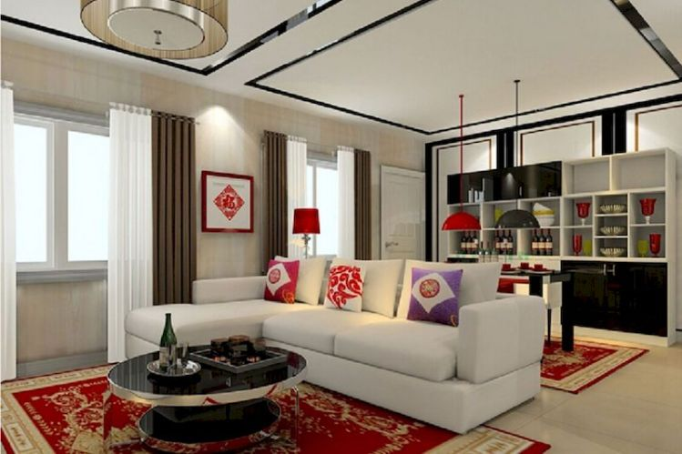 Impressive chinese living room decor ideas 25