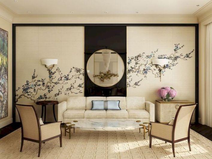 Impressive chinese living room decor ideas 34