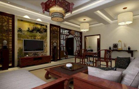Impressive chinese living room decor ideas 47
