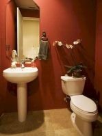 Magnificient red wall design ideas for bathroom 05