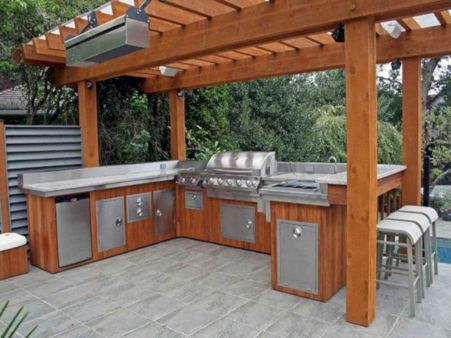 Modern outdoor kitchen designs ideas 25