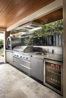 Modern outdoor kitchen designs ideas 26