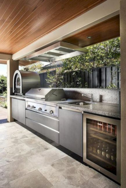Modern outdoor kitchen designs ideas 26