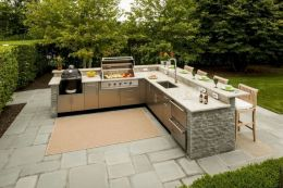 Modern outdoor kitchen designs ideas 35