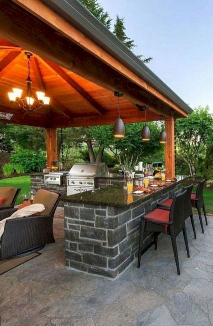 Modern outdoor kitchen designs ideas 36