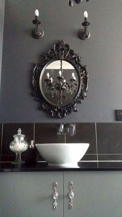 Newest gothic bathroom design ideas 37