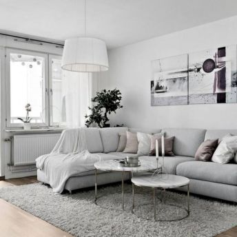Stunning scandinavian living room design ideas 43