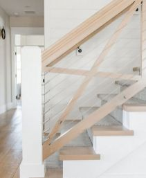 Unique coastal stairs design ideas for home this summer 53
