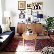Unique mid century living room décor ideas 03
