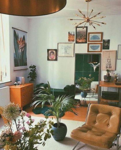Unique mid century living room décor ideas 08
