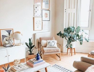 Unique mid century living room décor ideas 28