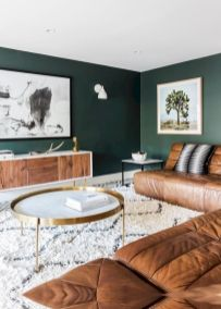 Unique mid century living room décor ideas 39