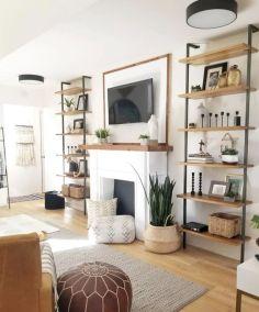 Unique mid century living room décor ideas 41