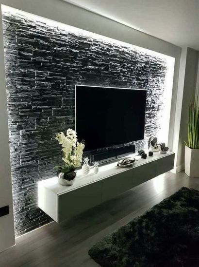 Adorable tv wall decor ideas 08