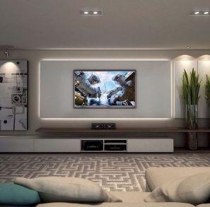 Adorable tv wall decor ideas 25