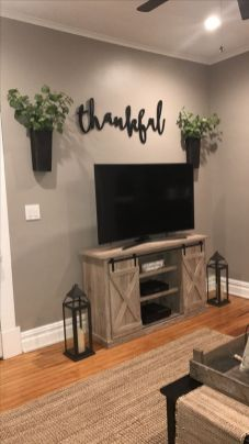 Adorable tv wall decor ideas 26