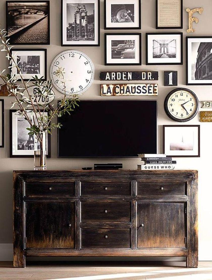Adorable tv wall decor ideas 41