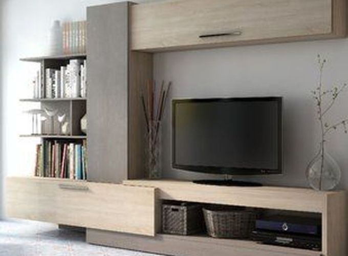 Adorable tv wall decor ideas 50