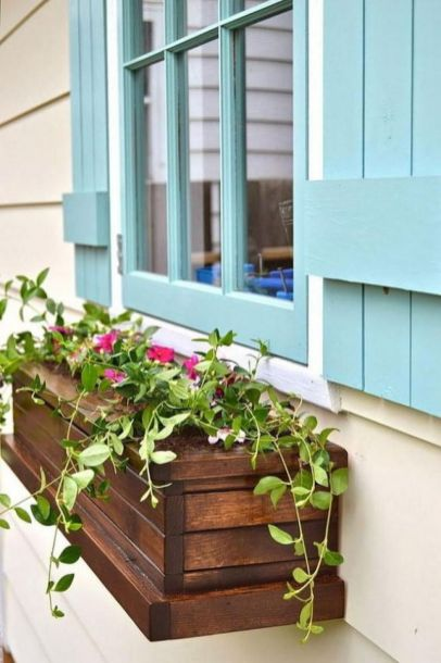 Attractive window box planter ideas to beautify up your home 04