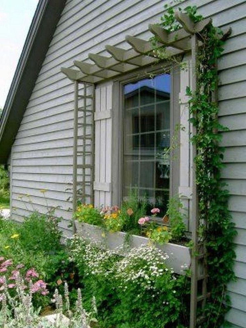 Attractive window box planter ideas to beautify up your home 44