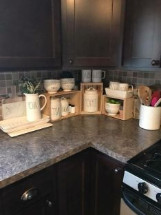 Elegant kitchen desk organizer ideas to look neat 06