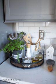 Elegant kitchen desk organizer ideas to look neat 14