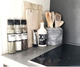 Elegant kitchen desk organizer ideas to look neat 19