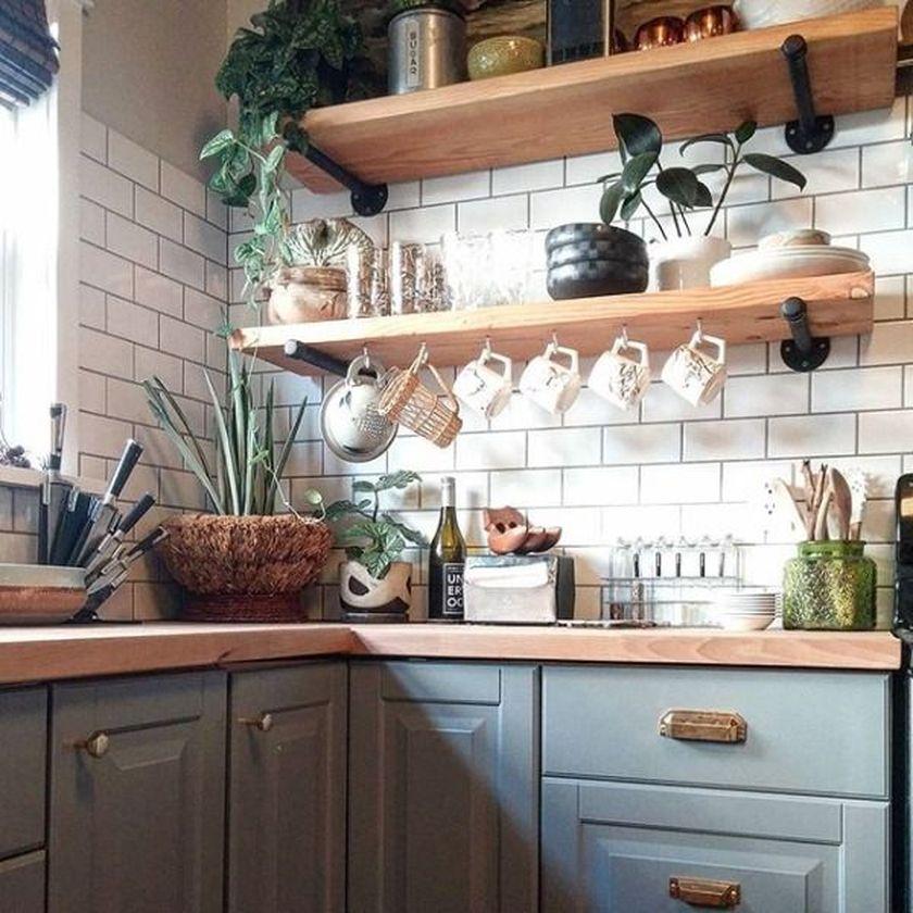 Elegant kitchen desk organizer ideas to look neat 22
