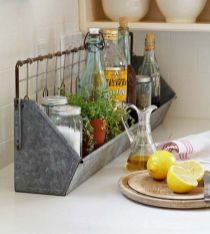 Elegant kitchen desk organizer ideas to look neat 40