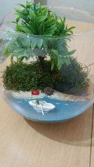Impressive mini garden mug ideas to add beauty on your home 44