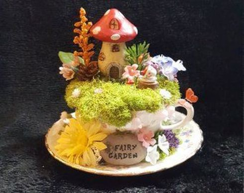 Impressive mini garden mug ideas to add beauty on your home 45