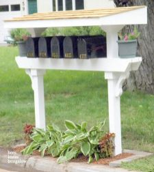 Stunning wood flower box ideas to beautify the flower decoration 21