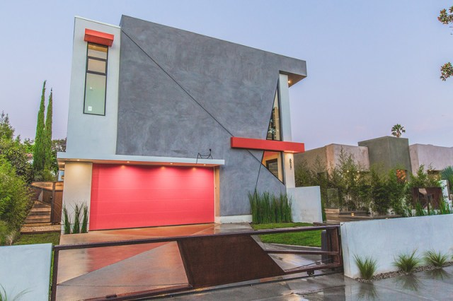 A Modern House Features Angular Lines With Charcoal 1