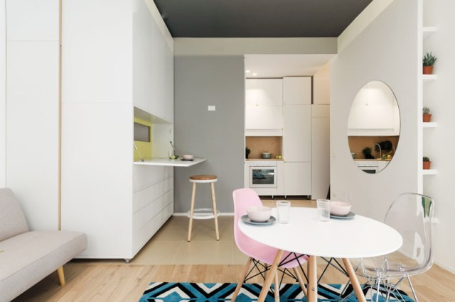 An Impressive Micro-ApartmentWith Transforming Wall That Truly Sophisticated 1
