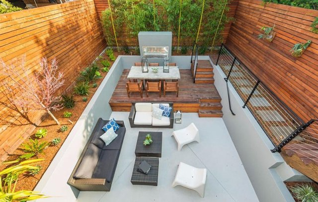 A House With Impressive Contemporary Backyard Which Has Multi-levels 5