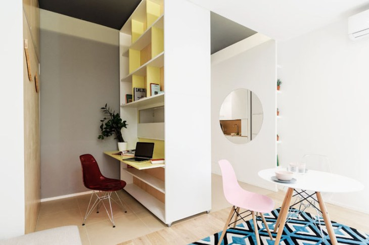An Impressive Micro-ApartmentWith Transforming Wall That Truly Sophisticated 4