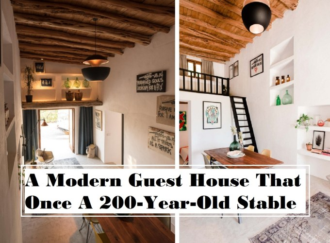 A modern guest house that once a 200-year-old stable