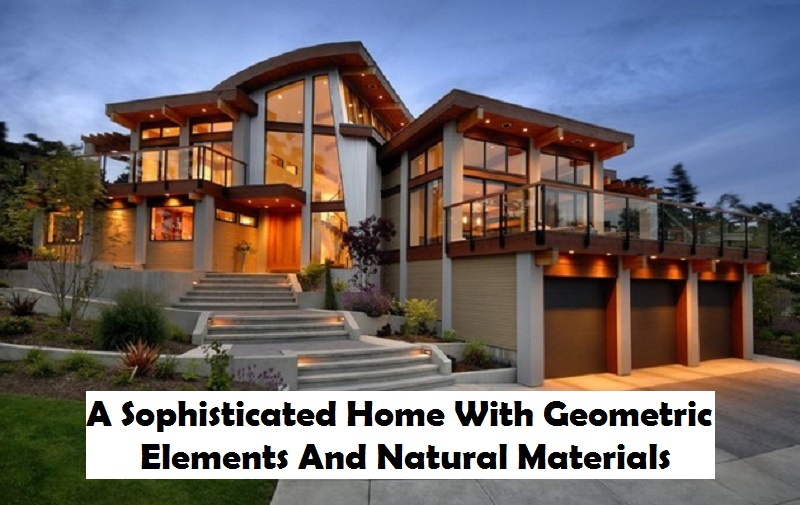 A sophisticated home with geometric elements and natural materials