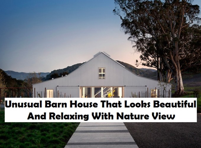 Unusual barn house that looks beautiful and relaxing with nature view