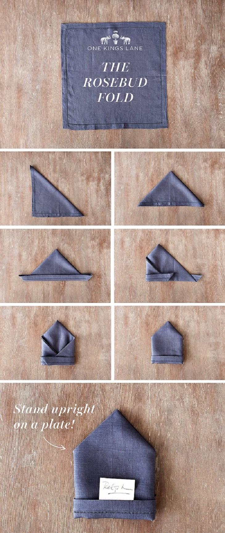 Rosebud Napkin Fold