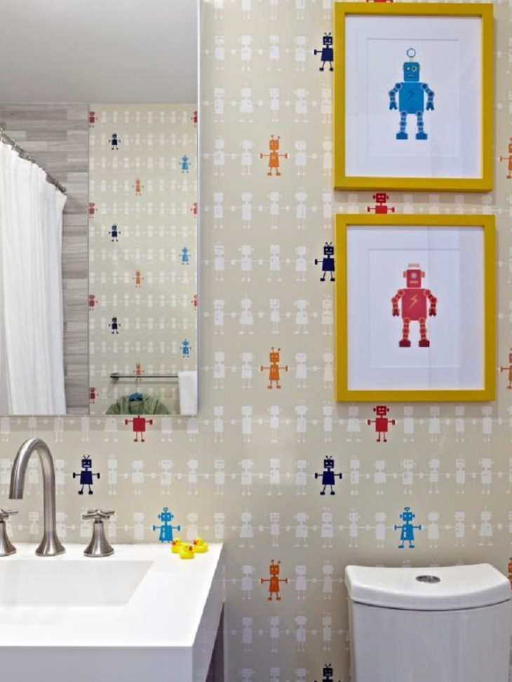 funky robot wallpaper