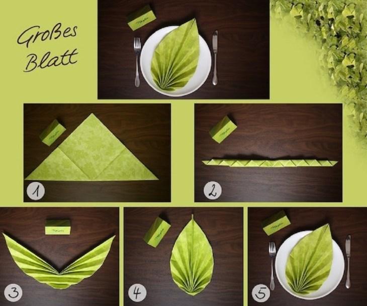 Fan Leaf Napkin Fold