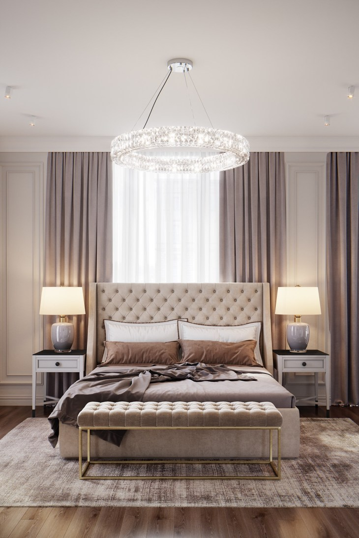 1 Beautiful Transitional Bedrooms Which Bridge Modern And Traditional Style Together