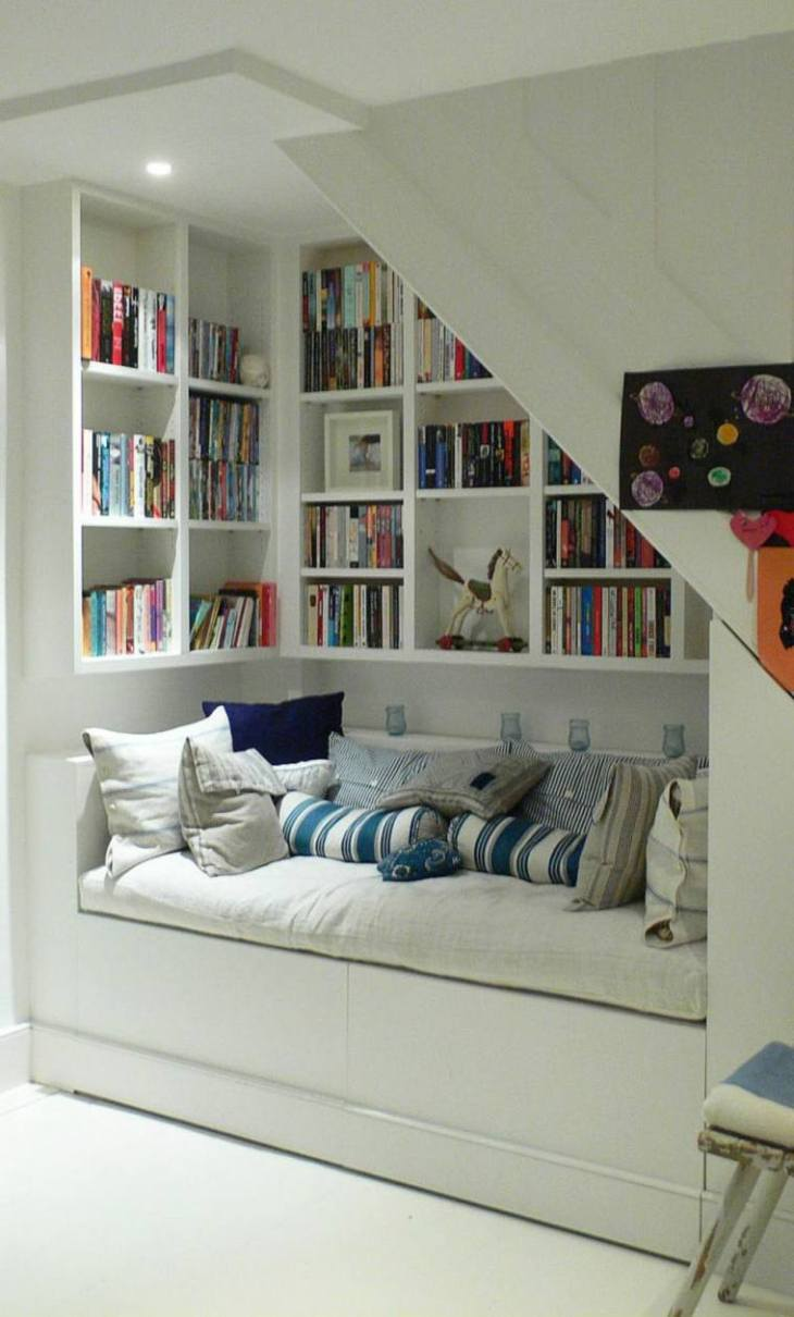 Classic reading nook under the stairs Ideal Reading Nook Ideas Offers You A Cozy Spot For All Winter