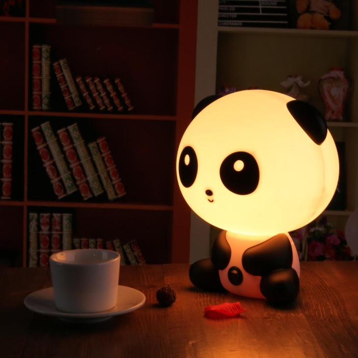 Cute panda-shaped night light Kids Room Night Lamps To Keep Your Kids on Their Happy Dream