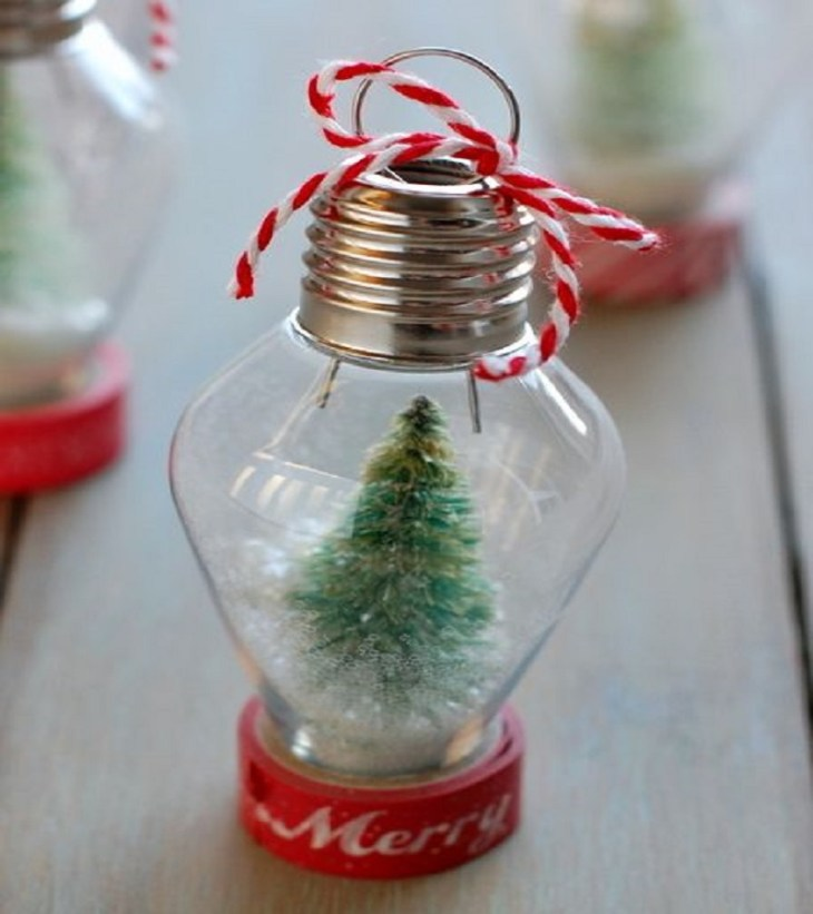 Mini snow globe ornament Timeless Charming Christmas Snow Globe Ideas That Everyone Will Adore